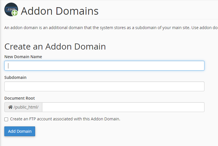 unlimited domain hosting addon